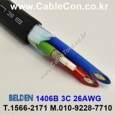 BELDEN 1406B Video Snake Cable 벨덴 30미터, 3Coax Bundled. High-Flex