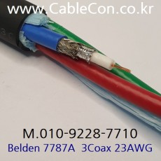 BELDEN 7787A Video Snake Cable 벨덴 30미터, 3Coax. Belden 1855A Bundleed