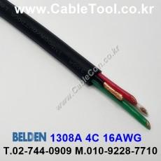 BELDEN 1308A 010(Black) 4C 16AWG 벨덴 300M