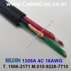 BELDEN 1308A 010(Black) 4C 16AWG 벨덴 150M