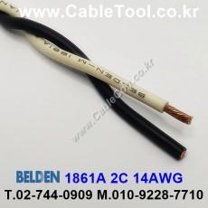 BELDEN 1861A D26(Black & Natural) 2C 14AWG 벨덴 300M
