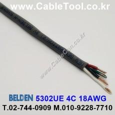 BELDEN 5302UE 008(Gray) 4C 18AWG 벨덴 300M