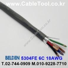 BELDEN 5304FE 008(Gray) 6C 18AWG 벨덴 300M