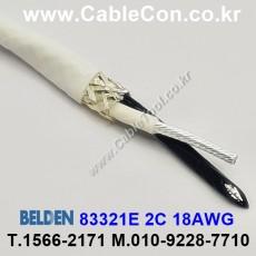BELDEN 83321E 009(White) 2C 18AWG 벨덴 30M