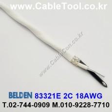 BELDEN 83321E 009(White) 2C 18AWG 벨덴 300M
