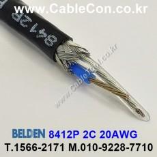 BELDEN 8412P 010(Black) 2C 20AWG 벨덴 3M