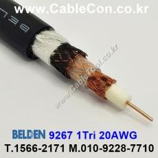 BELDEN 9267 010(Black) RG-59/U. Triaxial 벨덴 3M