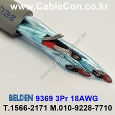 BELDEN 9369 060(Chrome) 3Pair 18AWG 벨덴 150M