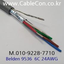 BELDEN 9536 060(Chrome) 6C 24AWG 벨덴 30M