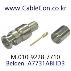 BELDEN A7731ABHD3 BNC 커넥터 벨덴, BELDEN 7731A 압착식 BNC Plug